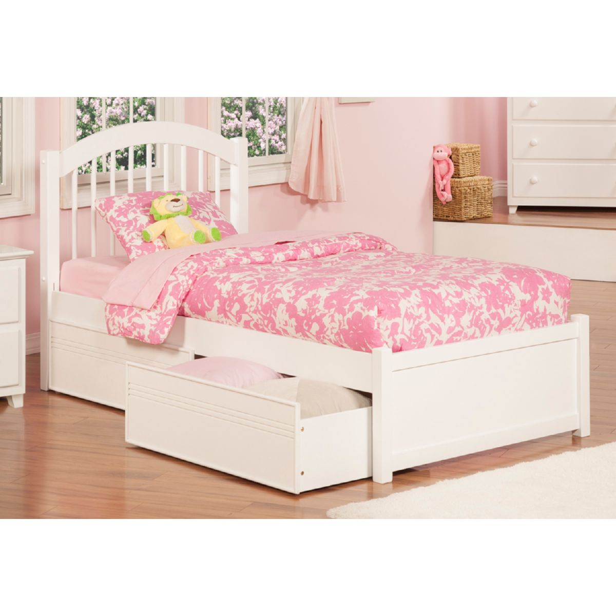 Atlantic Furniture Ap9412112 Windsor Twin Xl Bed W Flat