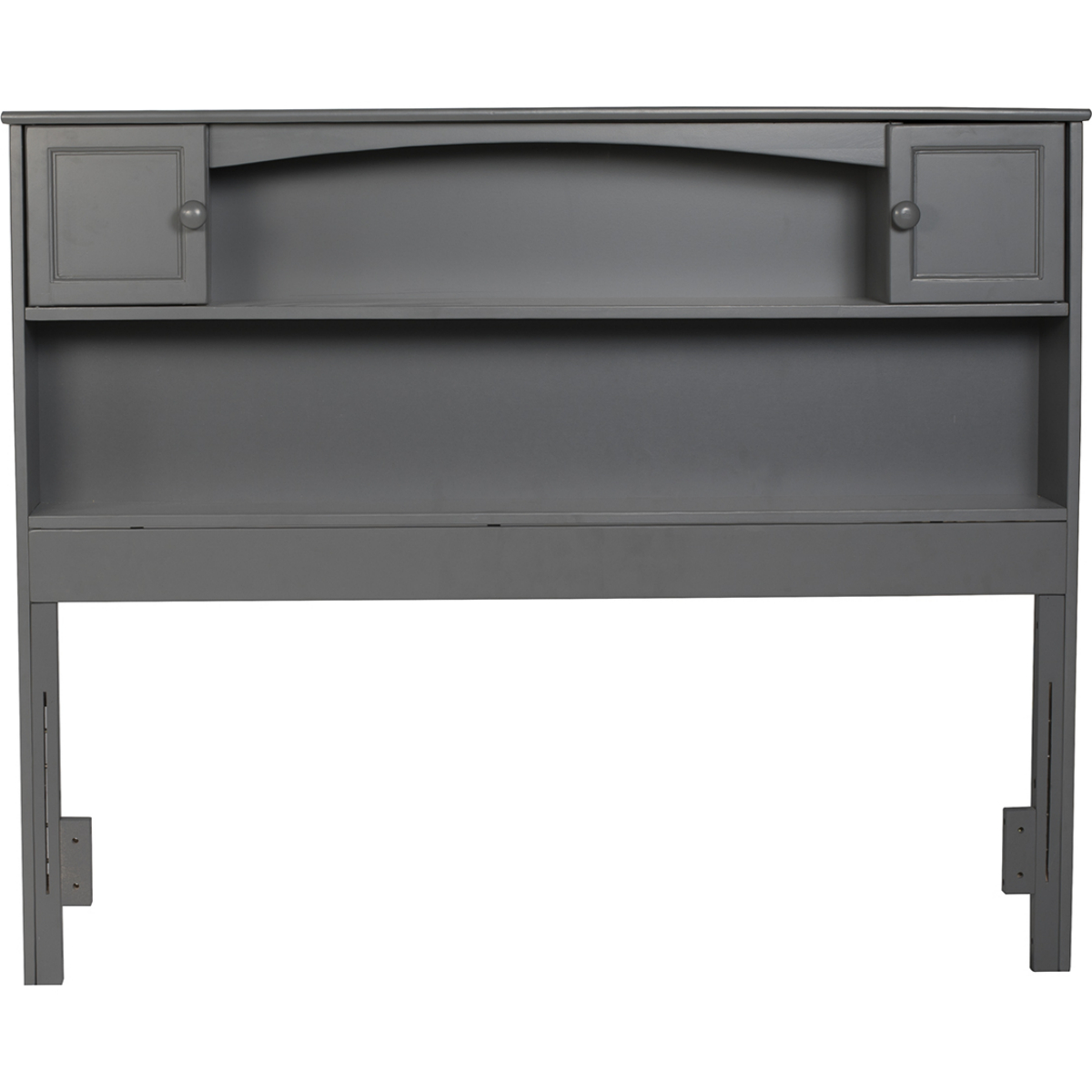 Newport Bookcase Headboard Full Atlantic Grey By Atlantic Furniture