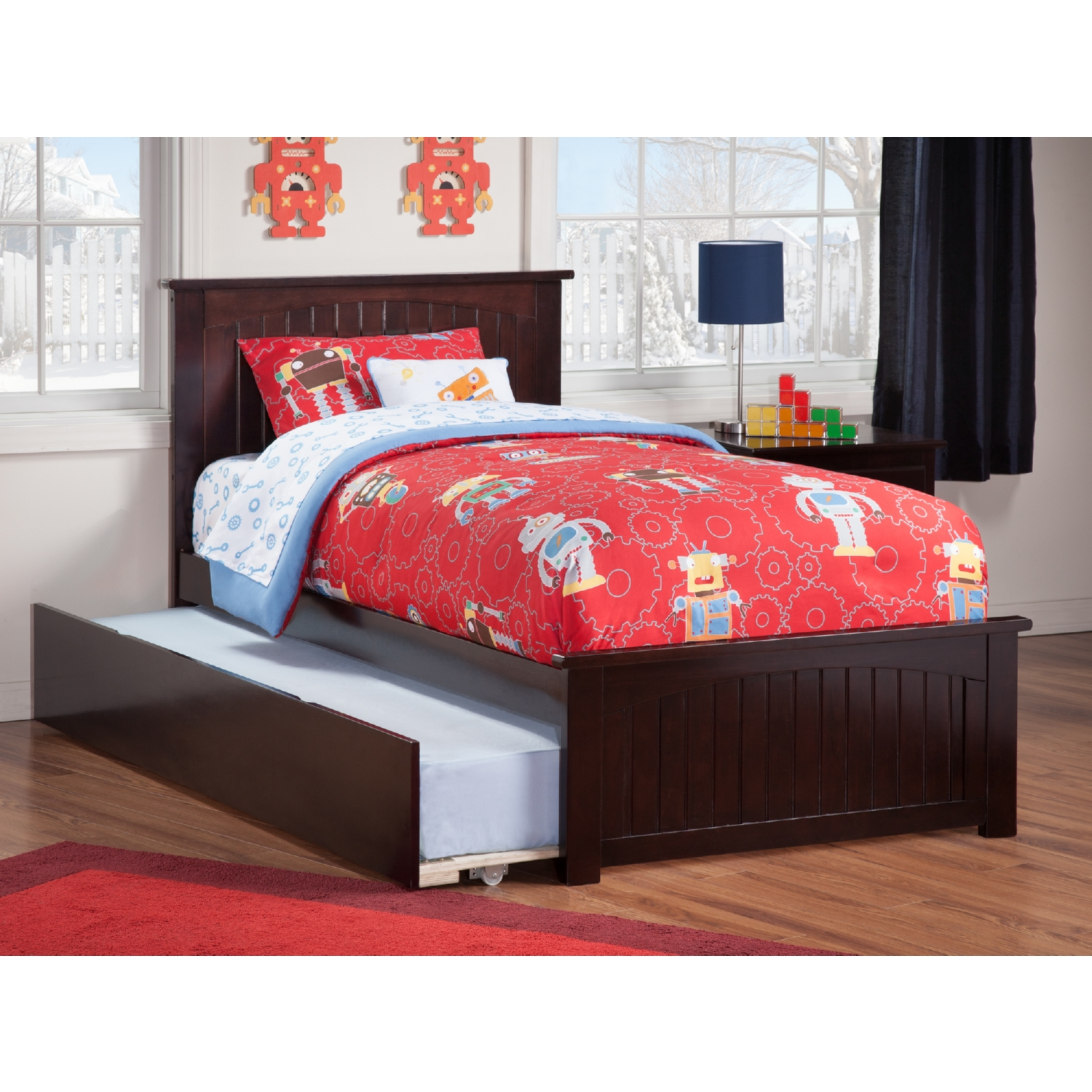 Atlantic furniture ar8226011 nantucket twin bed w for Urban home beds
