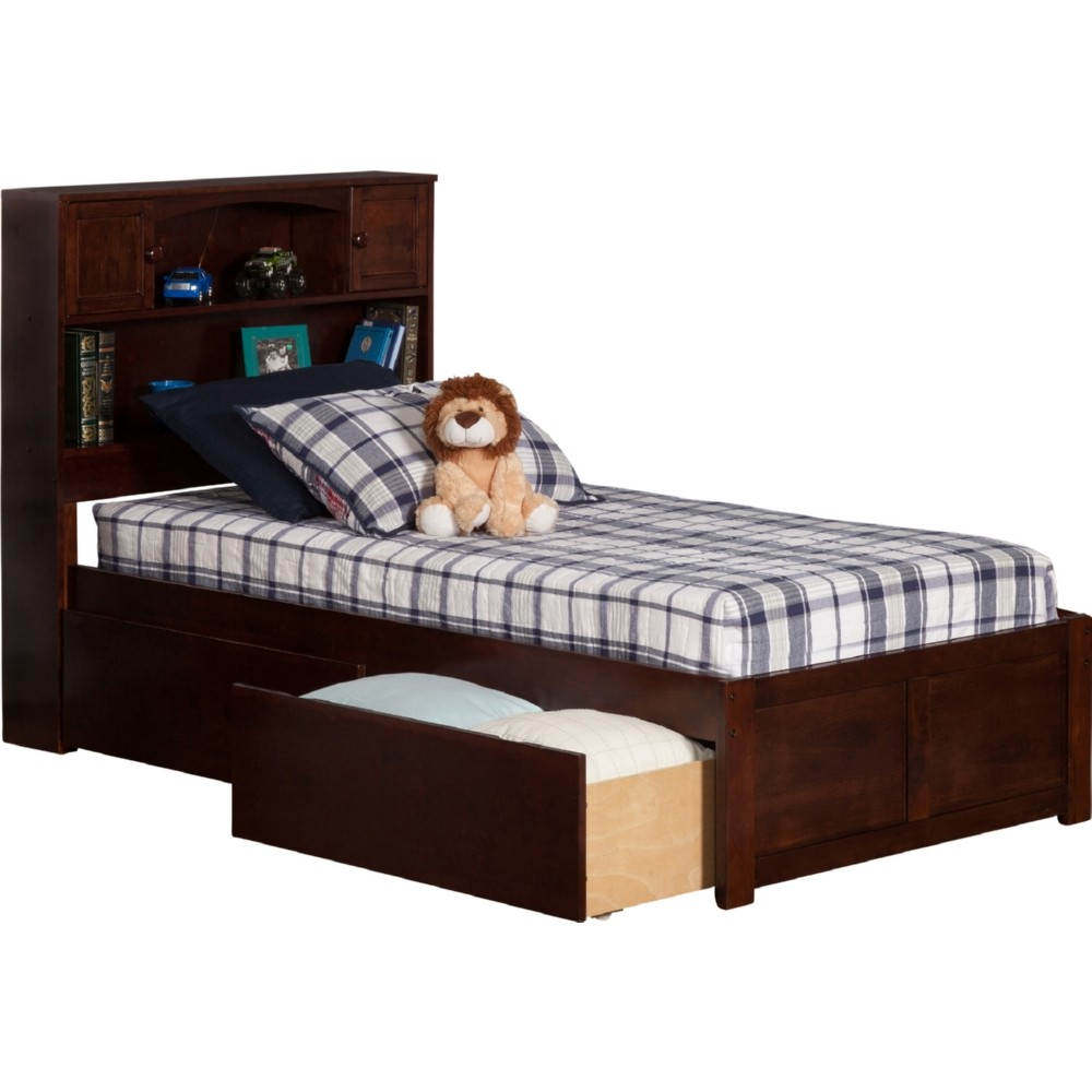 Atlantic furniture ar8522114 newport bookcase bed twin w for Urban home beds