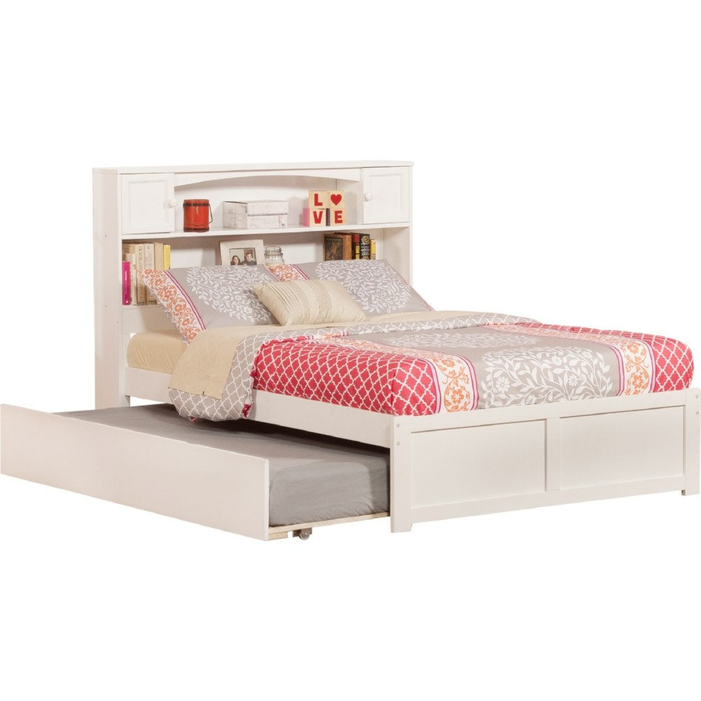 Atlantic furniture ar8532012 newport bookcase bed full w for Urban home beds