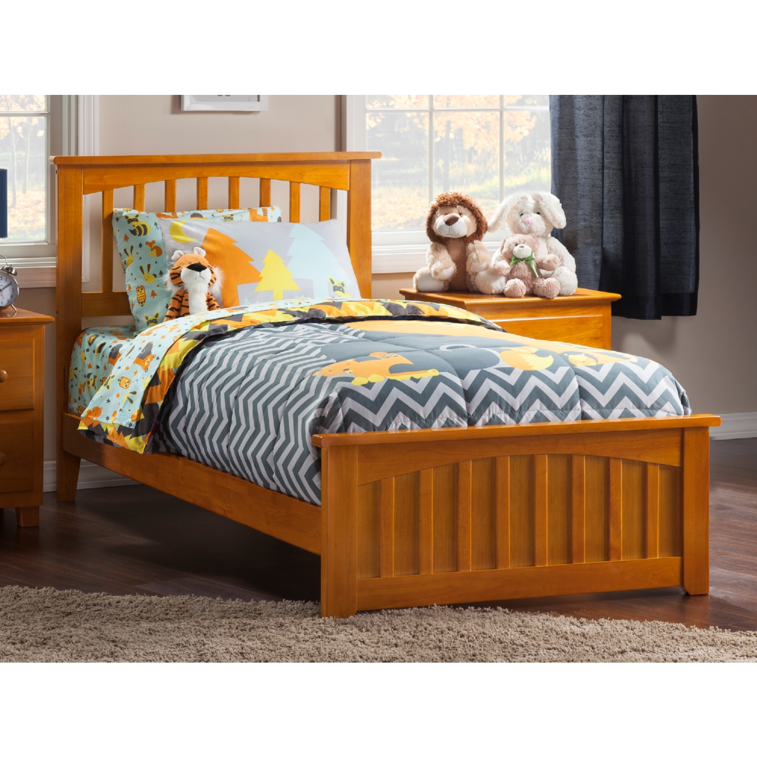 Atlantic Furniture Ar8716037 Mission Twin Xl Bed W Matching