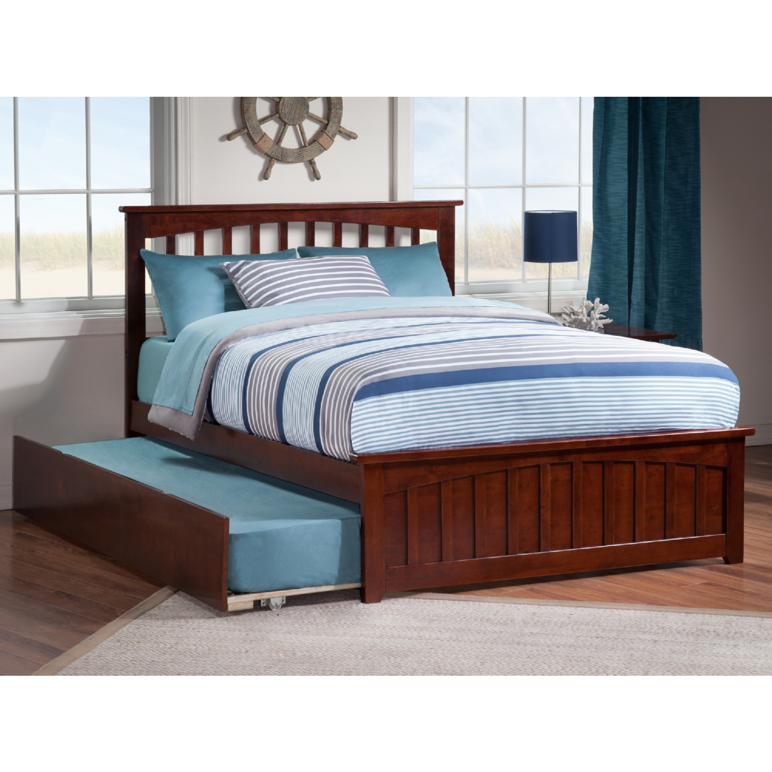 Atlantic furniture ar8736014 mission full bed w matching for Urban home beds