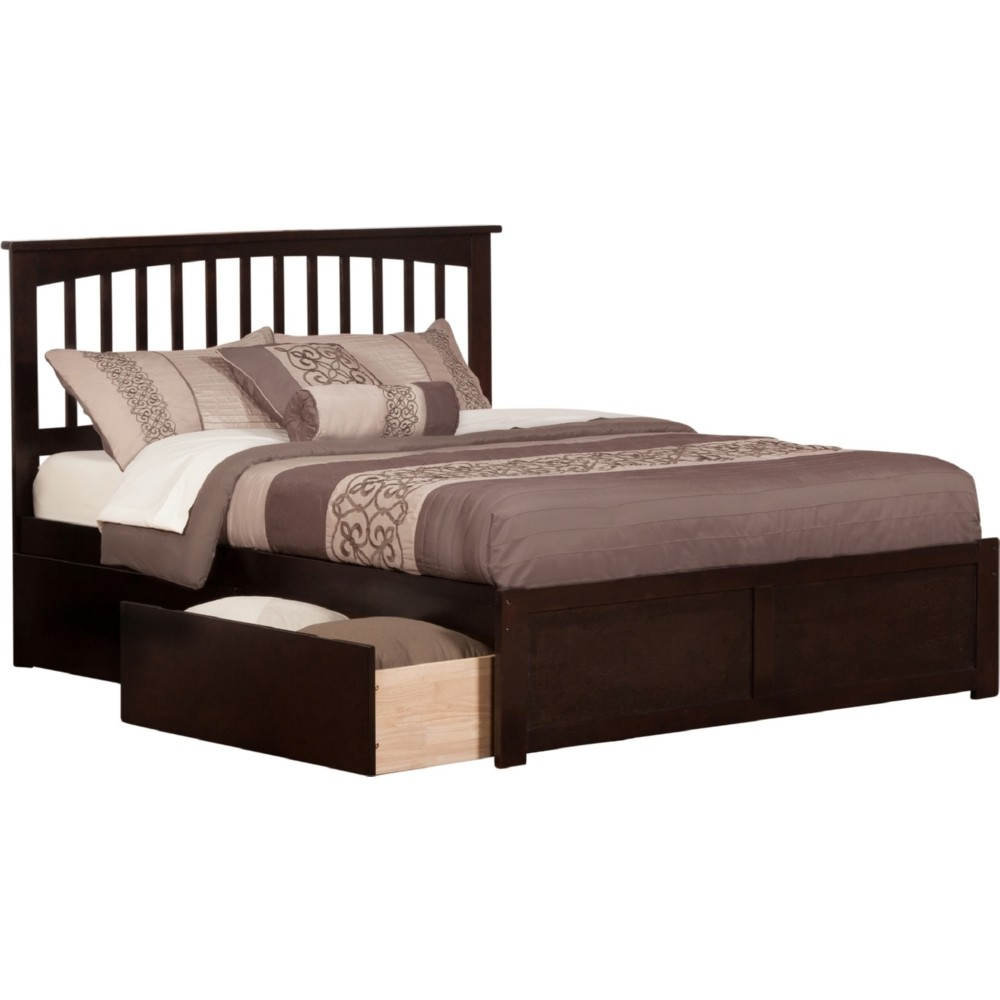 Atlantic furniture ar8752111 mission king bed w flat for Urban home beds