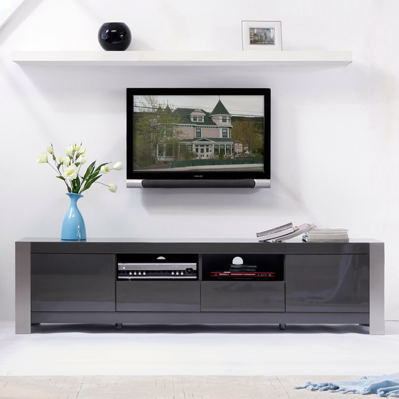 High Gloss tv Unit Grey tv Stand in High Gloss