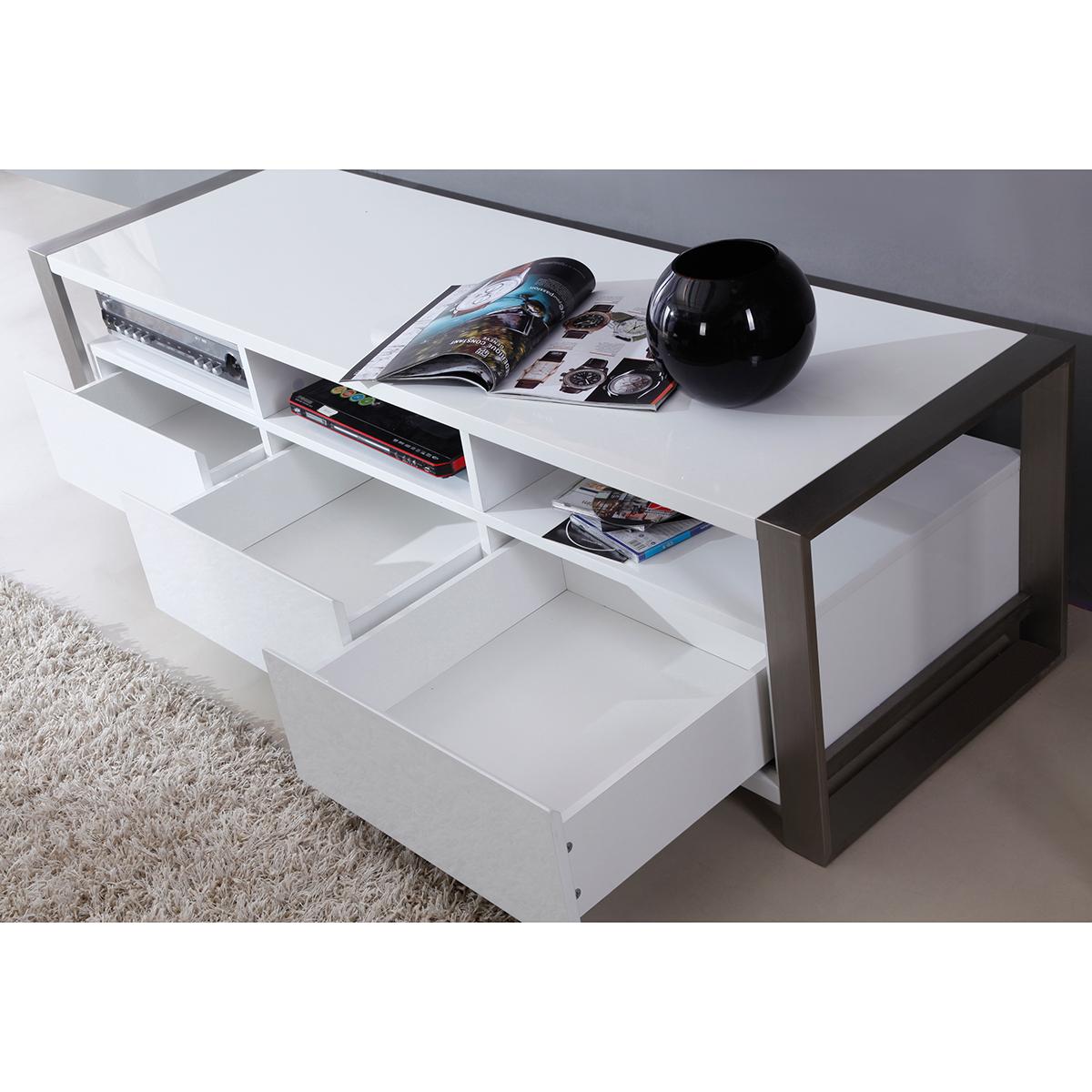 bmodern furniture bmwht stylist  contemporary tv stand in  - stylist  contemporary tv stand in high gloss white lacquer