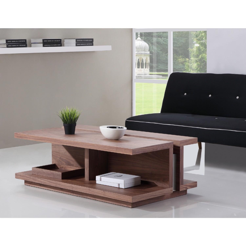 "B Modern BM 310 BRN S DJ 47 25"" Coffee Table in Light Walnut w"