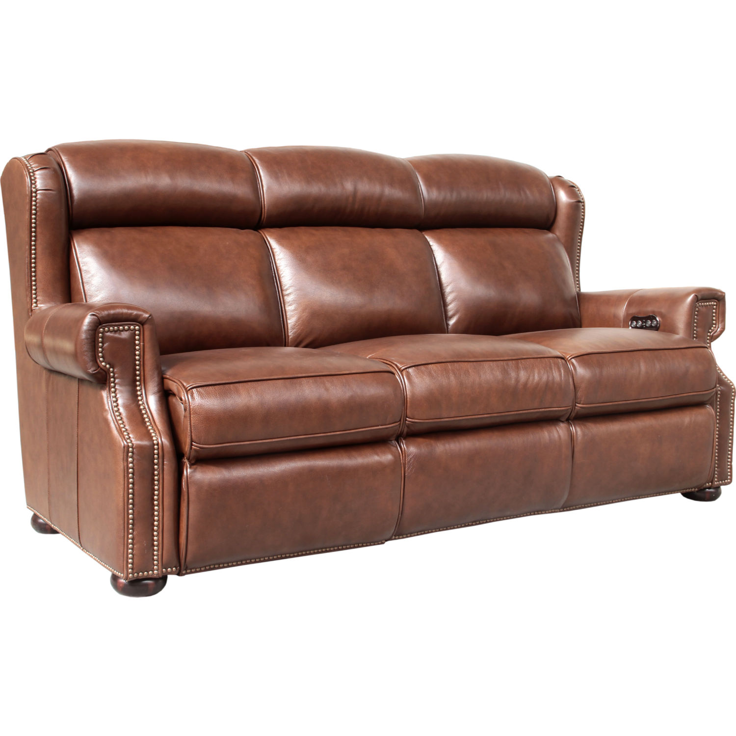 Benwick Power Reclining Sofa in Shoreham Chocolate Leather  sc 1 st  Dynamic Home Decor & BarcaLounger 39PH3178570085 Benwick Power Reclining Sofa in ... islam-shia.org