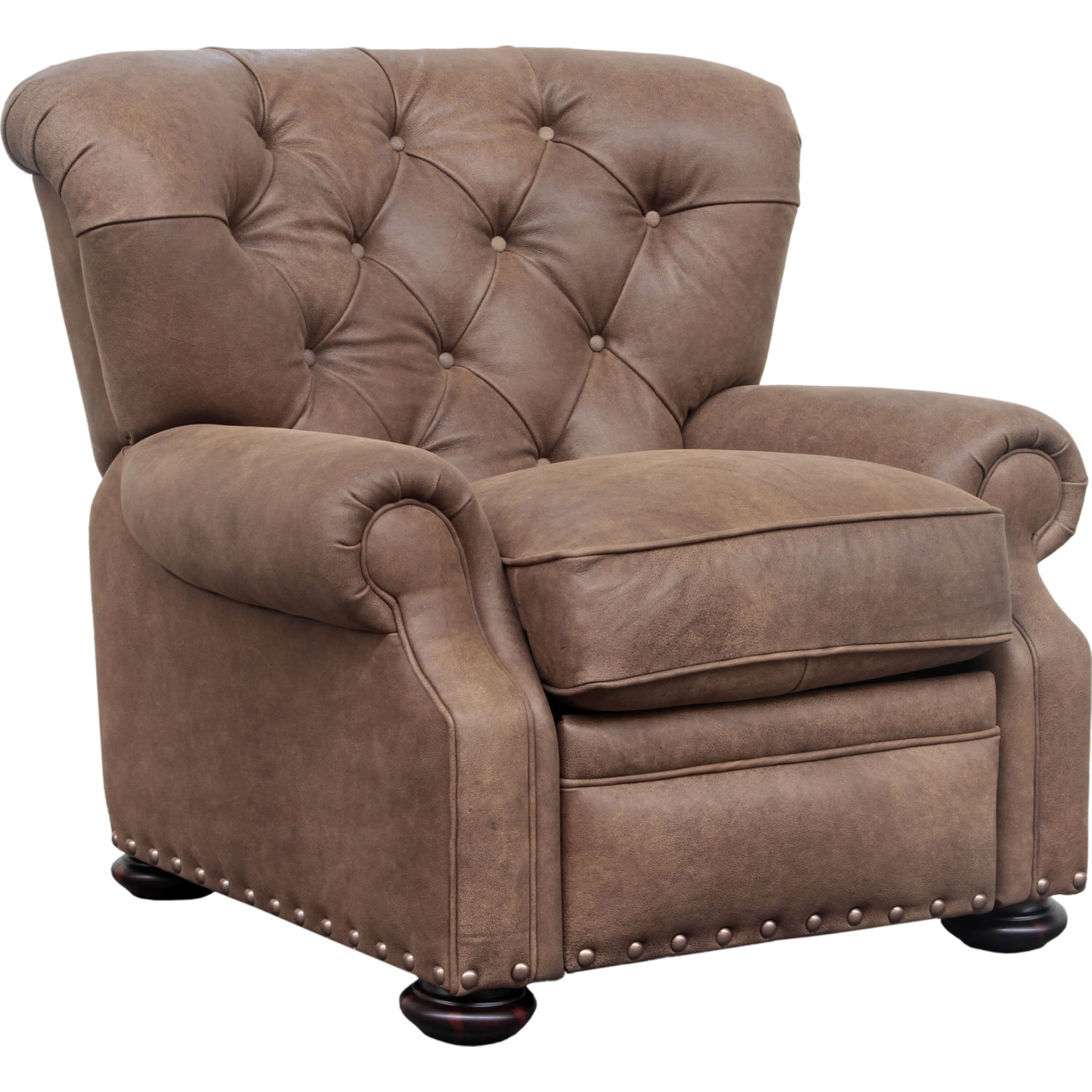 BarcaLounger Sinclair Recliner in Sanded Dark Bomber