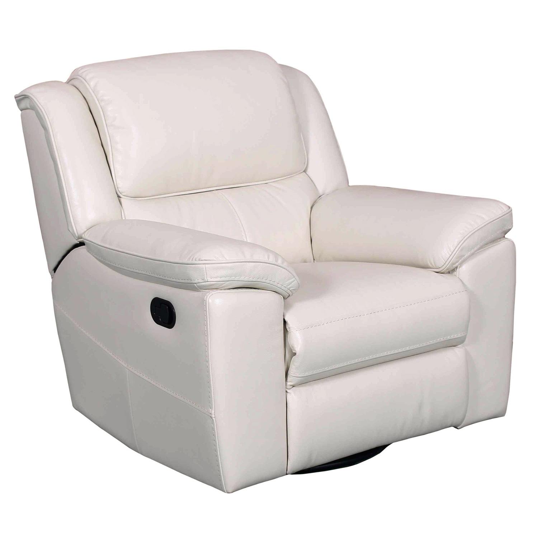 laguna swivel glider recliner in cashmere white leather
