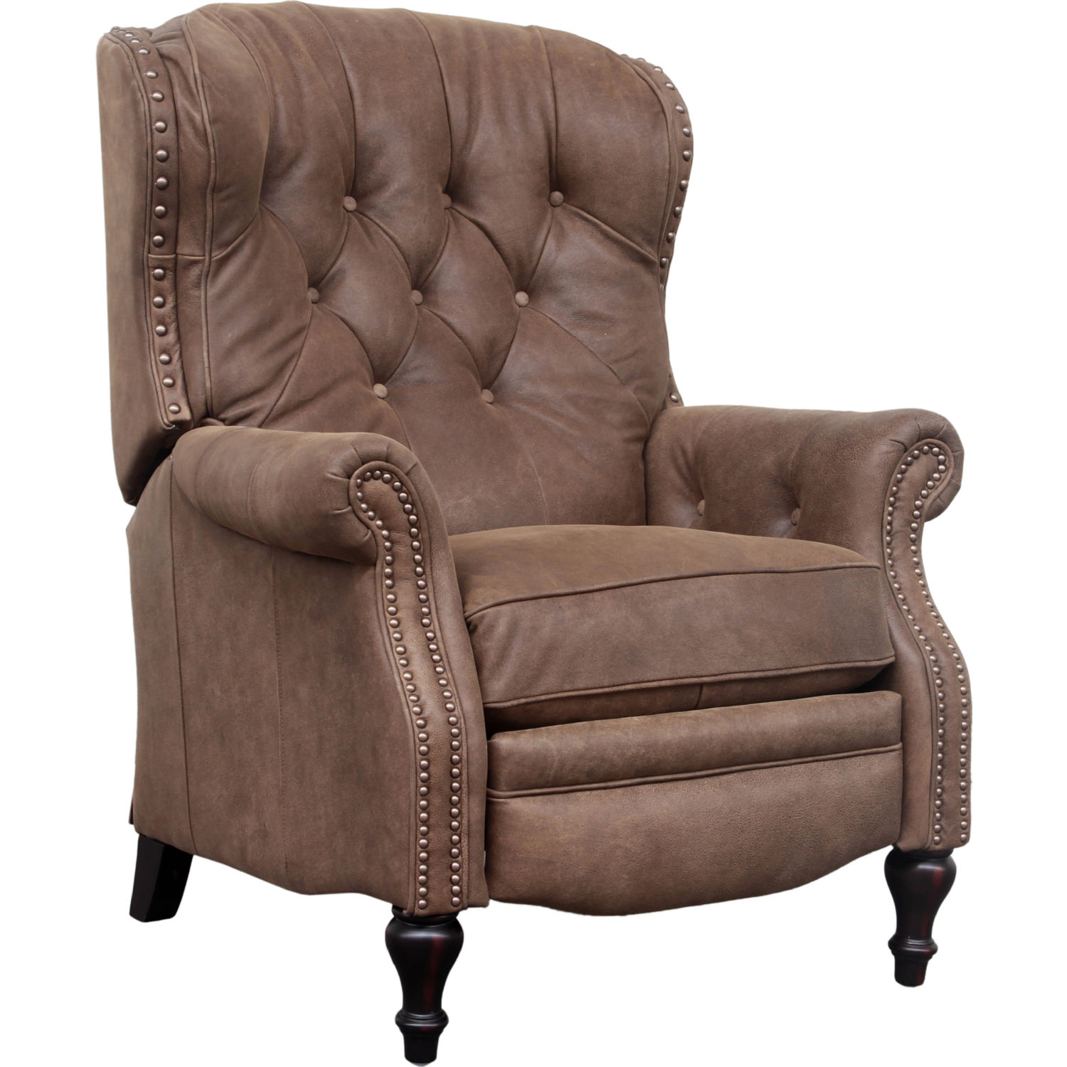 BarcaLounger Kendall Recliner in Tufted Sanded Dark