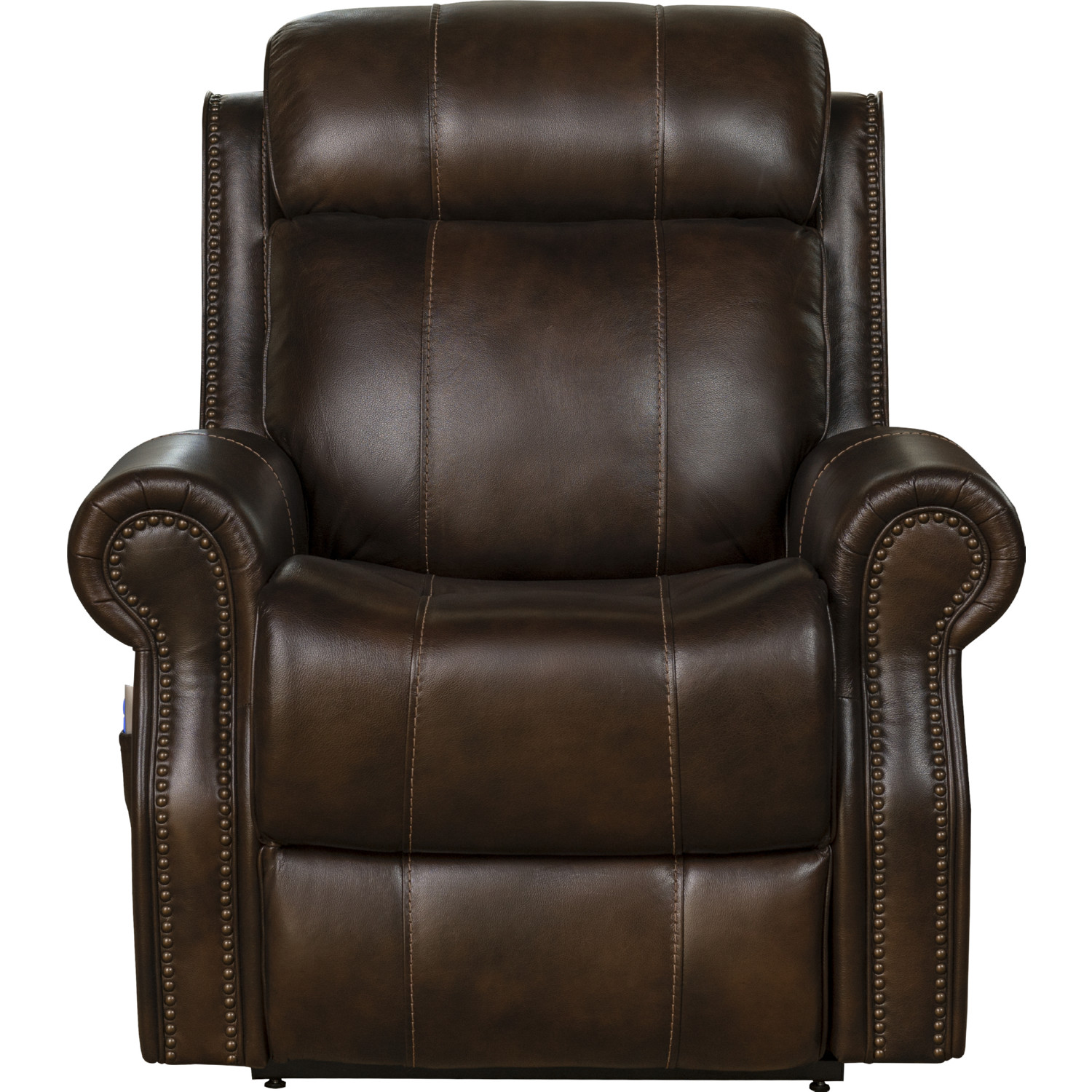 Cool Langston Lift Chair Recliner W Power Head Rest In Tonya Brown Leather By Barcalounger Unemploymentrelief Wooden Chair Designs For Living Room Unemploymentrelieforg