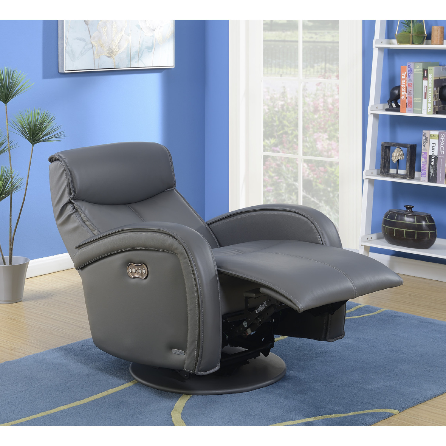 barcalounger 16 8045 3449 95 nico swivel glider power recliner in
