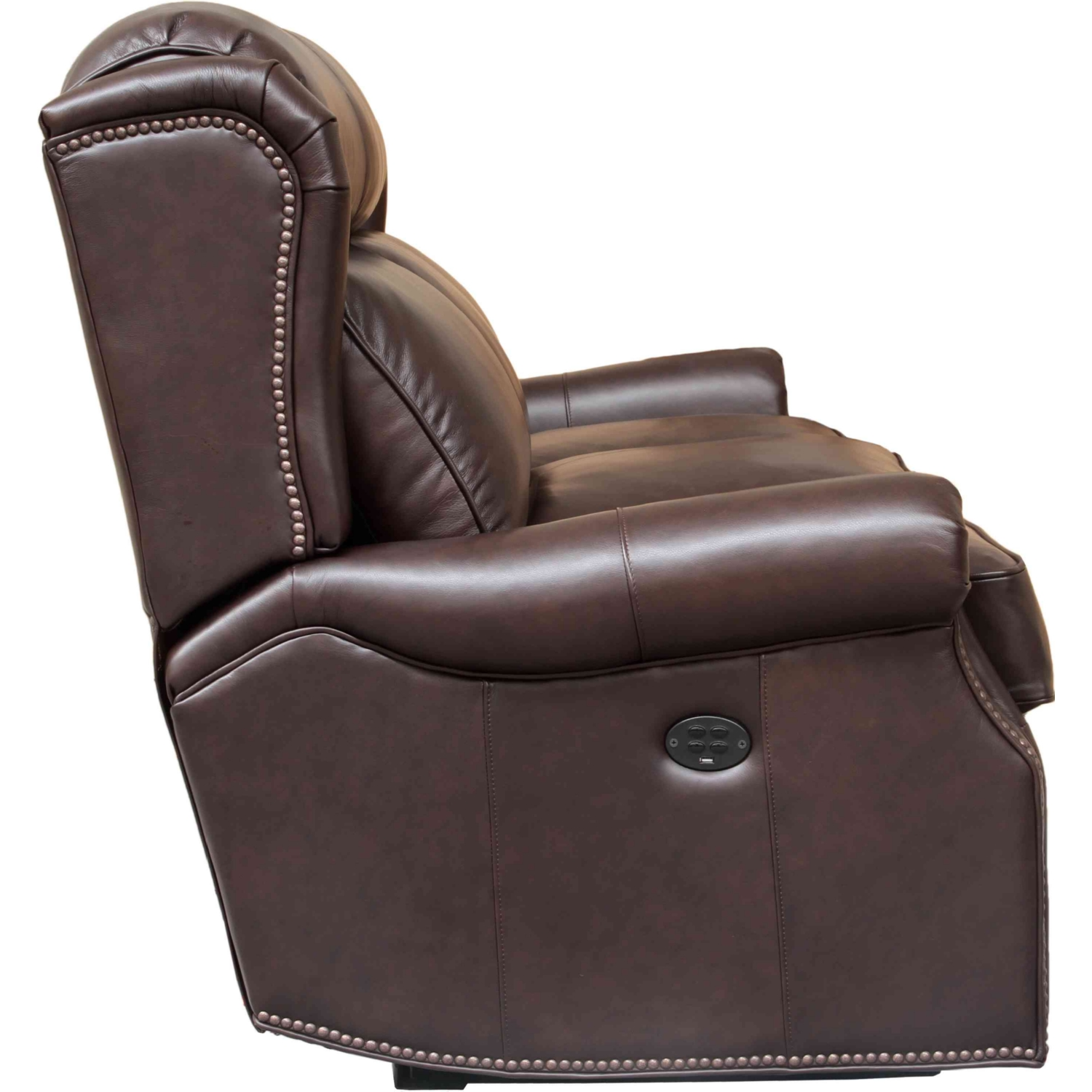 Southington Power Reclining Sofa w/ Power Headrests in Shoreham Dark Umber Leather  sc 1 st  Dynamic Home Decor & BarcaLounger 39PH-3183-5700-88 Southington Power Reclining Sofa w ... islam-shia.org