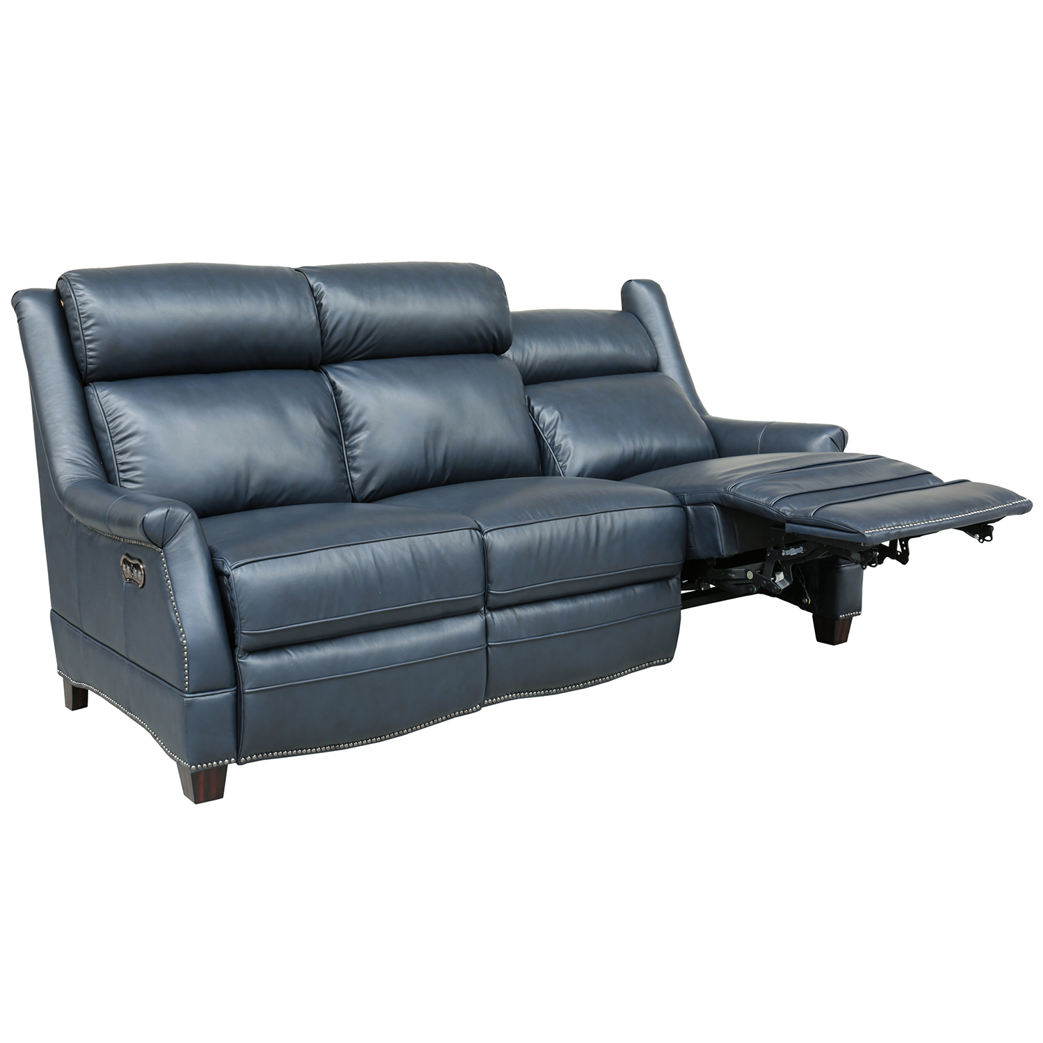 Incredible Warrendale Power Reclining Sofa In Shoreham Blue Leather By Barcalounger Alphanode Cool Chair Designs And Ideas Alphanodeonline