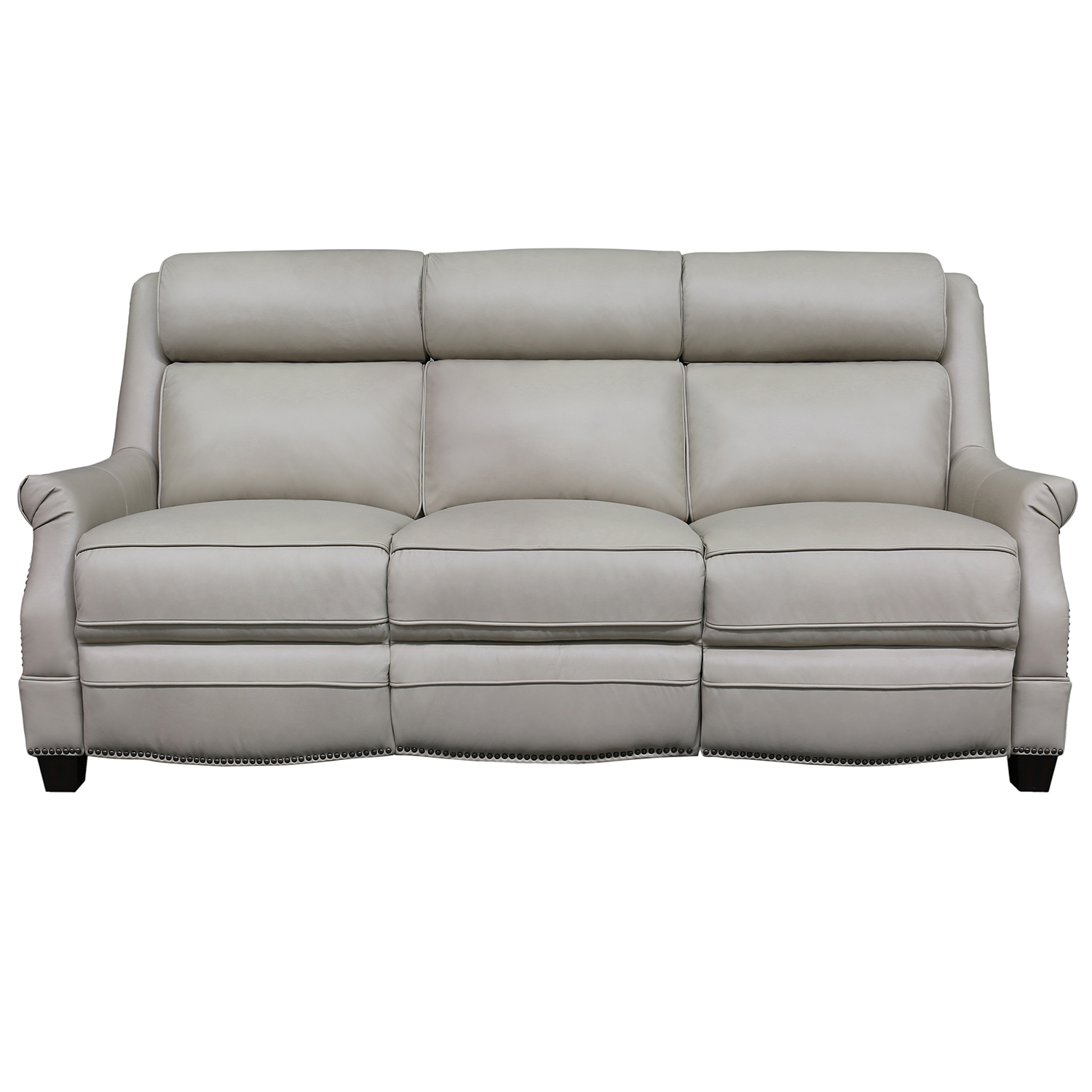 Warrendale Power Reclining Sofa In Shoreham Cream Leather By Barcalounger