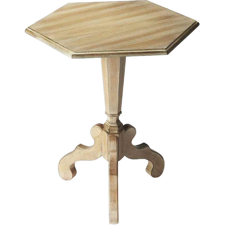 butler specialty corbin driftwood hexagonal accent t