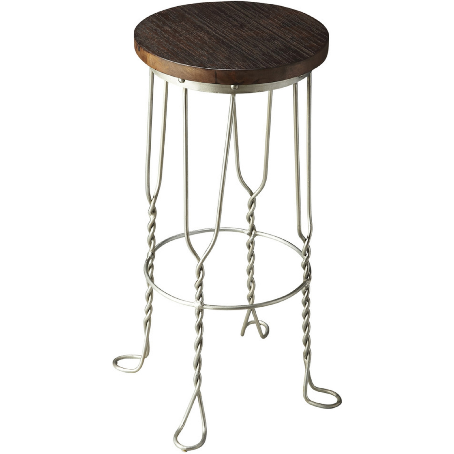 Industrial Chic Bar Stool In Multicolor Iron Recycled Wood By Butler Specialty