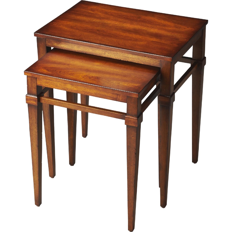 Nolan Antique Cherry Nesting Tables
