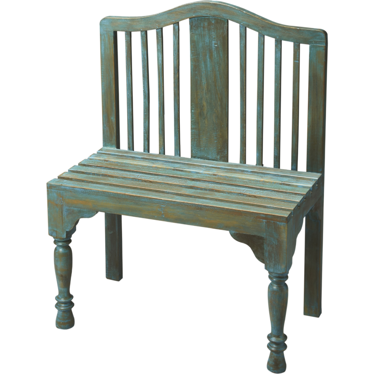 Chloe Foyer Table : Butler specialty roseland blue solid wood bench