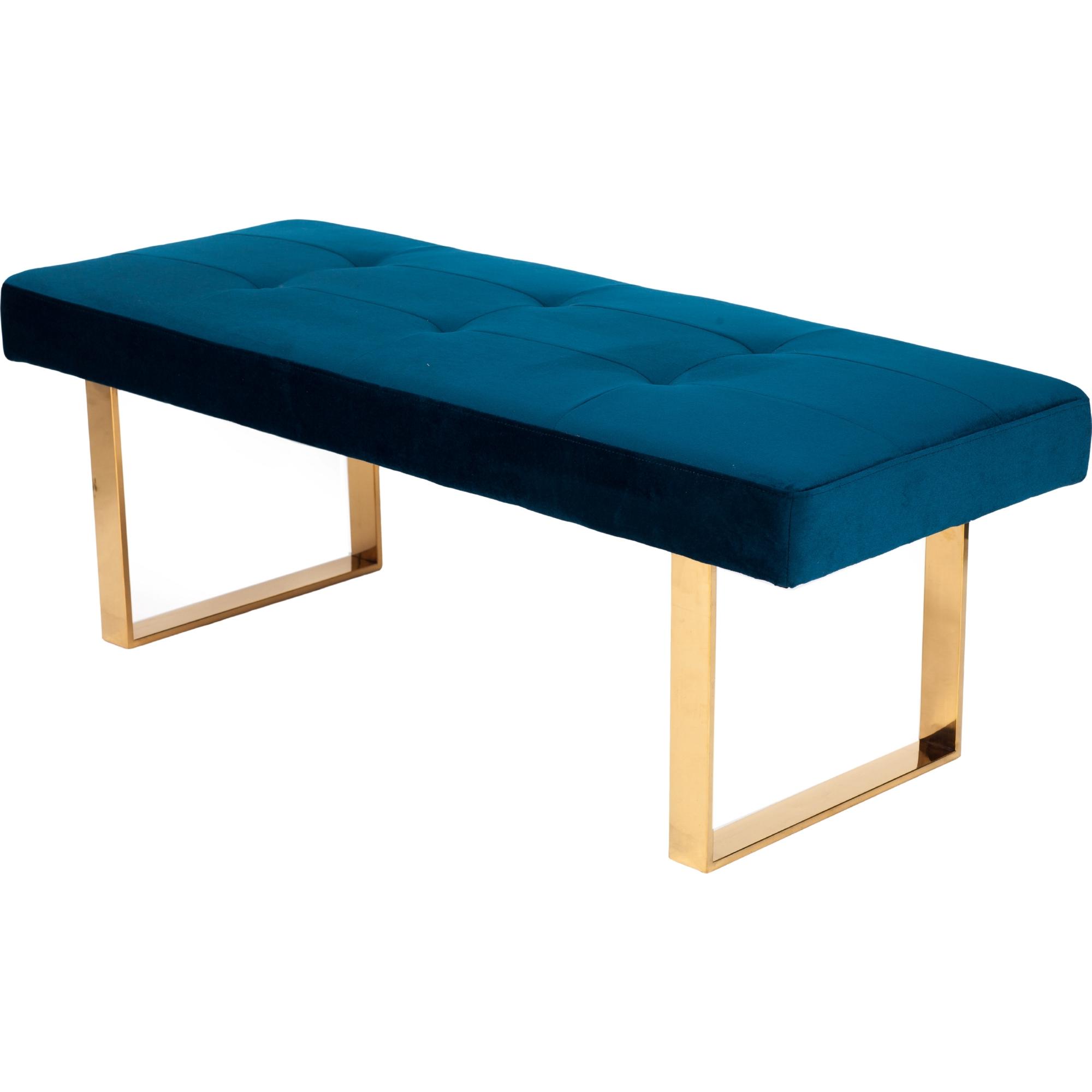 blue velvet bench. Hover To Zoom Blue Velvet Bench