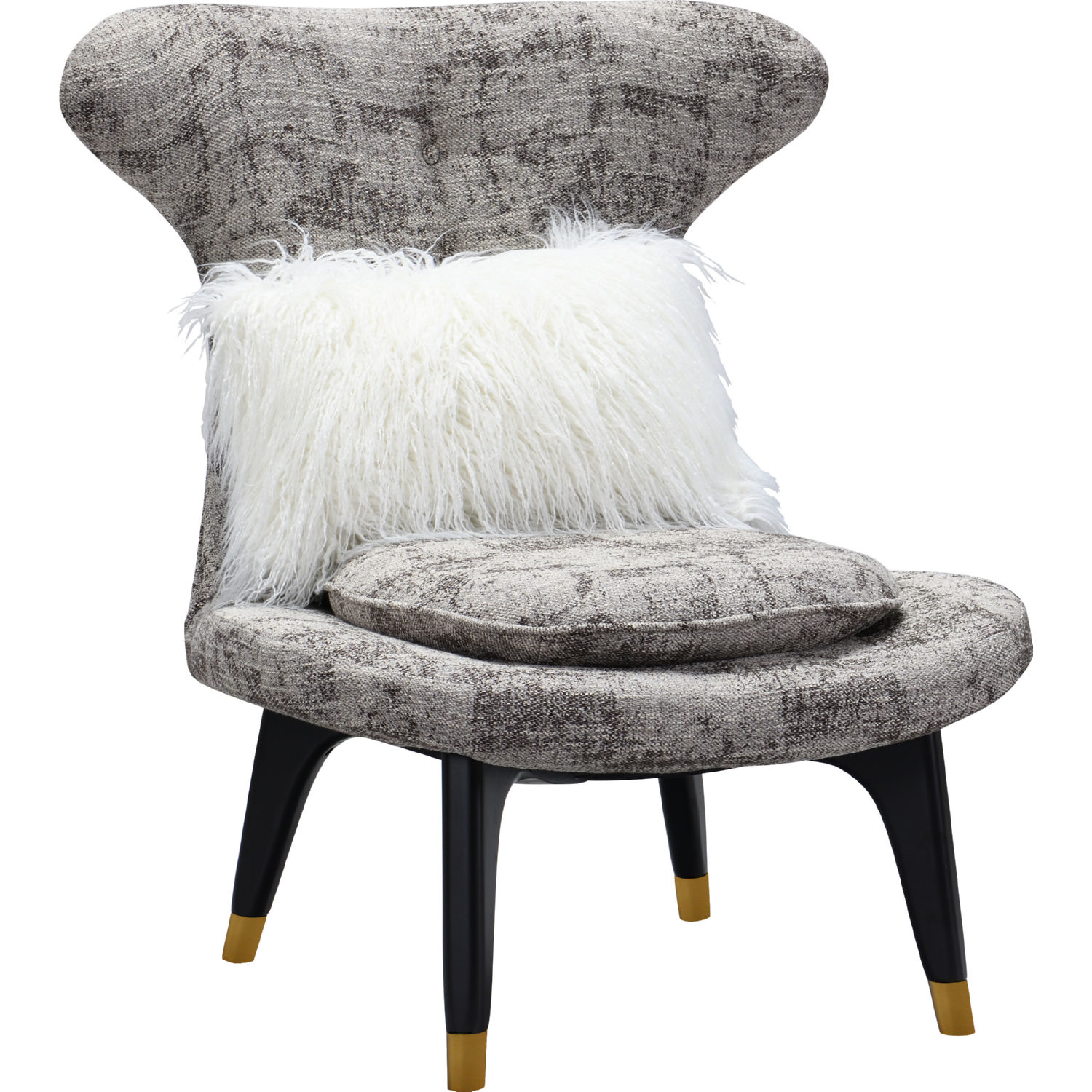 Sensational Chateau Accent Chair In Brown Fabric On Gold Tipped Wood Legs By Chic Home Gmtry Best Dining Table And Chair Ideas Images Gmtryco