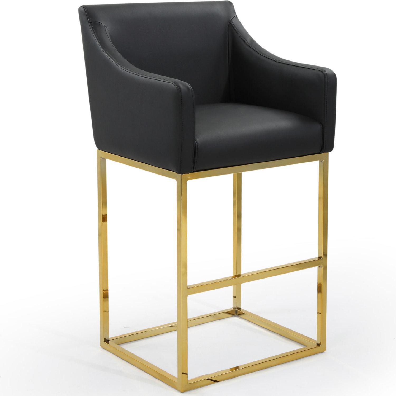 Prime Bluebell Bar Stool In Black Leatherette On Gold Metal Base By Chic Home Frankydiablos Diy Chair Ideas Frankydiabloscom