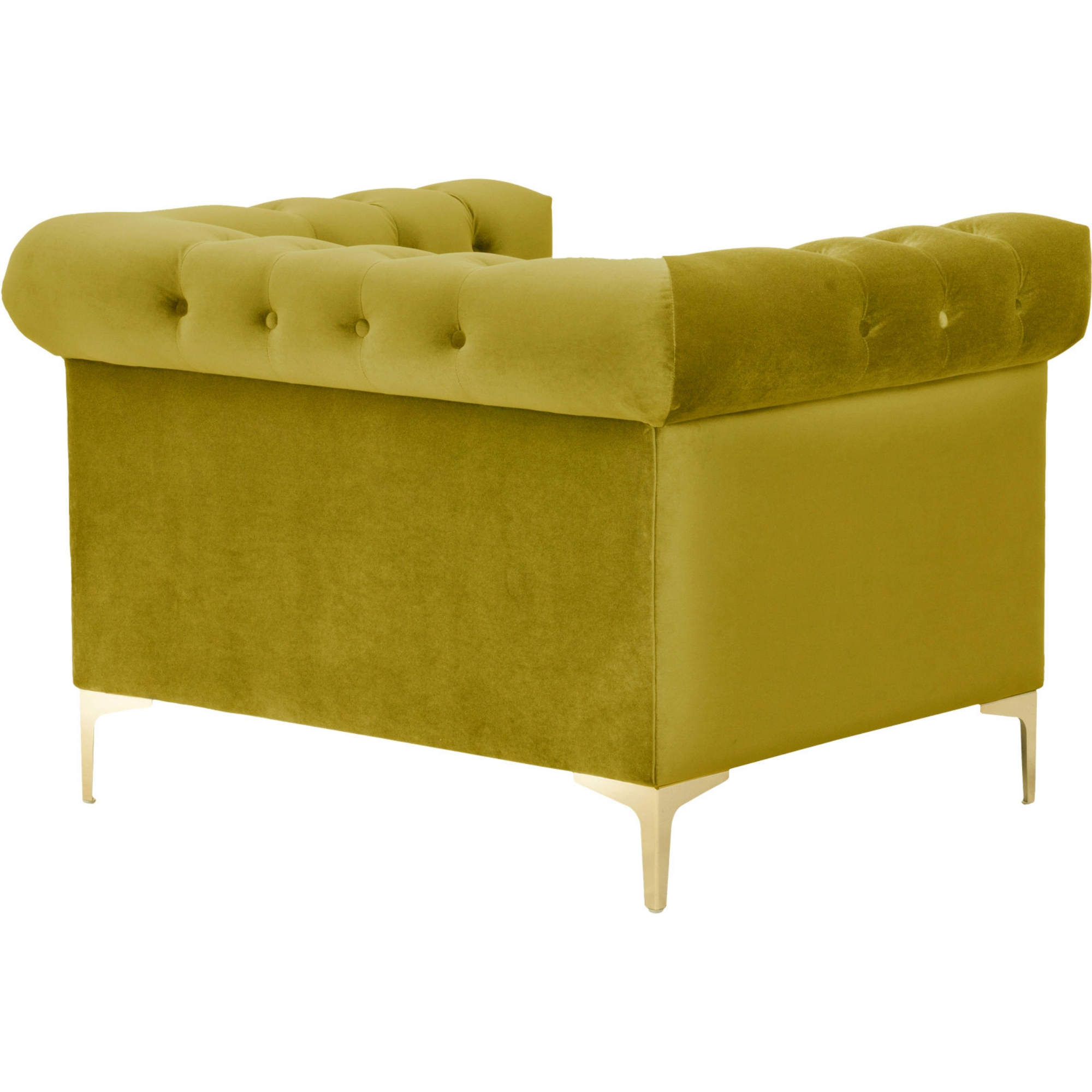 Chic Home FCC2608 DR Bea Club Chair in Tufted Velvet w Gold