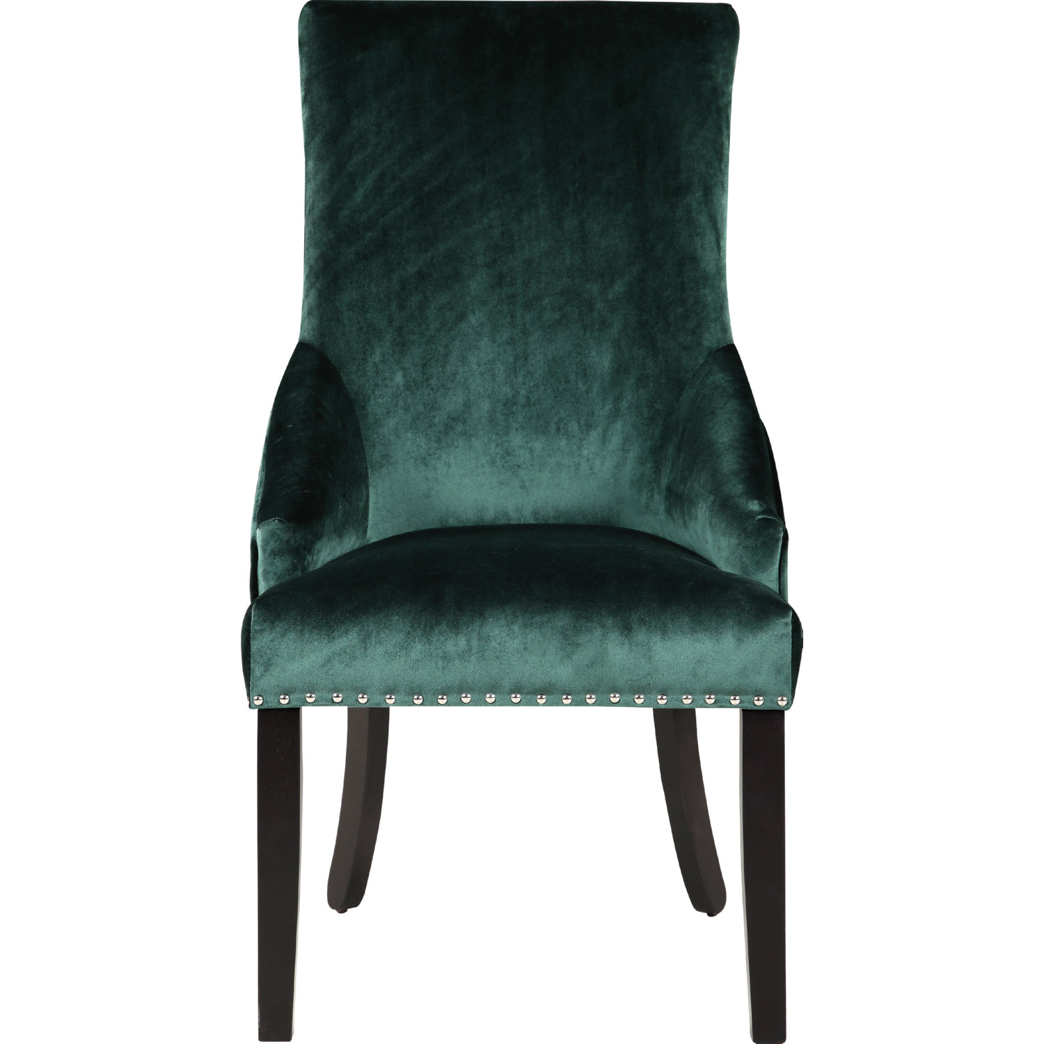 Machla Dining Chair In Green Velvet W Diamond Tufted Back Set Of 2 By Chic Home