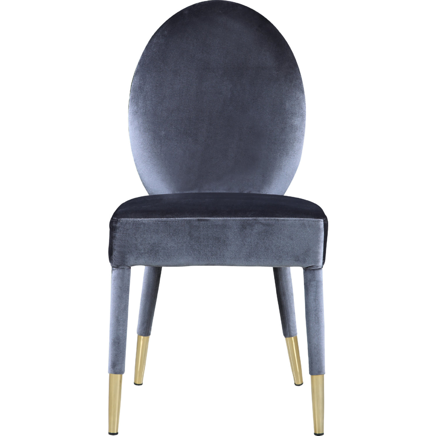 Wondrous Leverett Oval Back Dining Chair In Grey Velvet Set Of 2 By Chic Home Theyellowbook Wood Chair Design Ideas Theyellowbookinfo