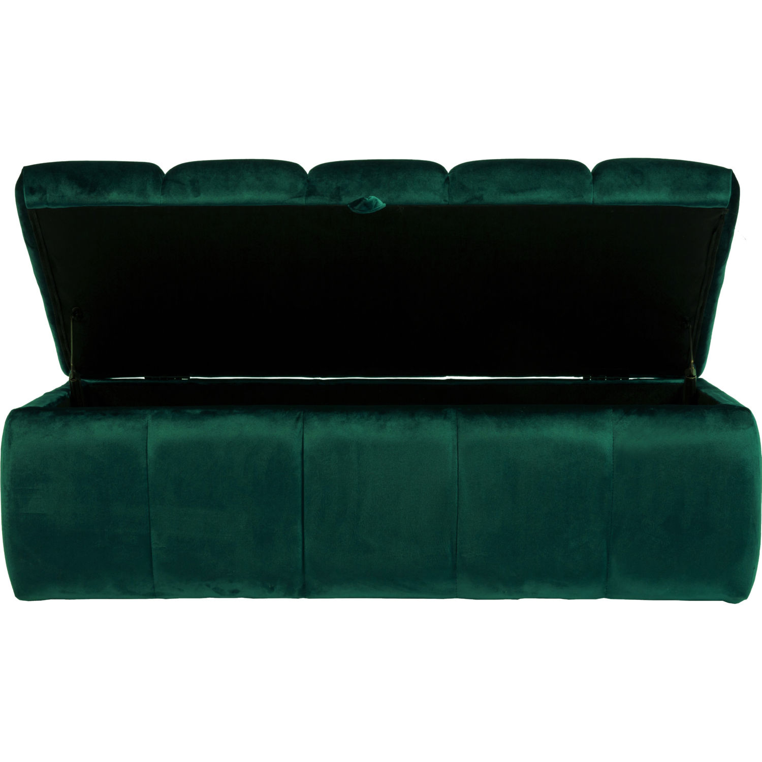 Chic Iconic Fon2791 Dr Chagit Storage Bench Ottoman In Tufted Green Velvet