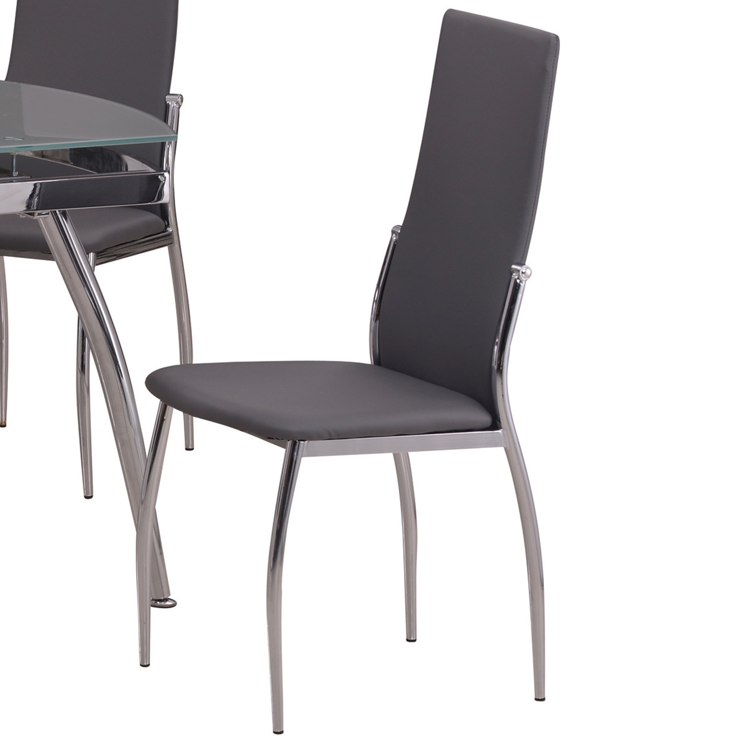 Chintaly Imports Luna Sc Gry Luna Modern Dining Chair In