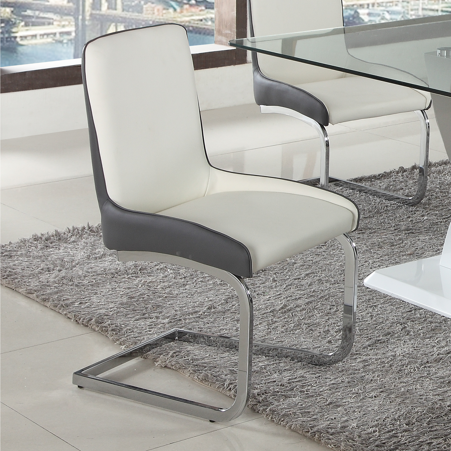 Chintaly Stella Sc 2tone Stella Bucket Dining Chair In