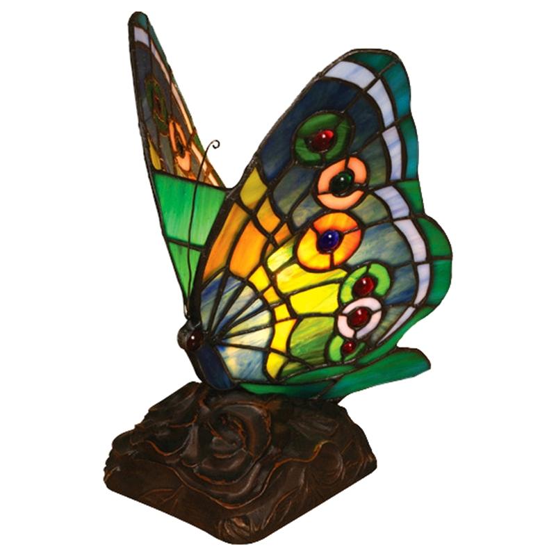 Chloe Lighting Ch10020ga06 Nl1 Tiffany Style Butterfly