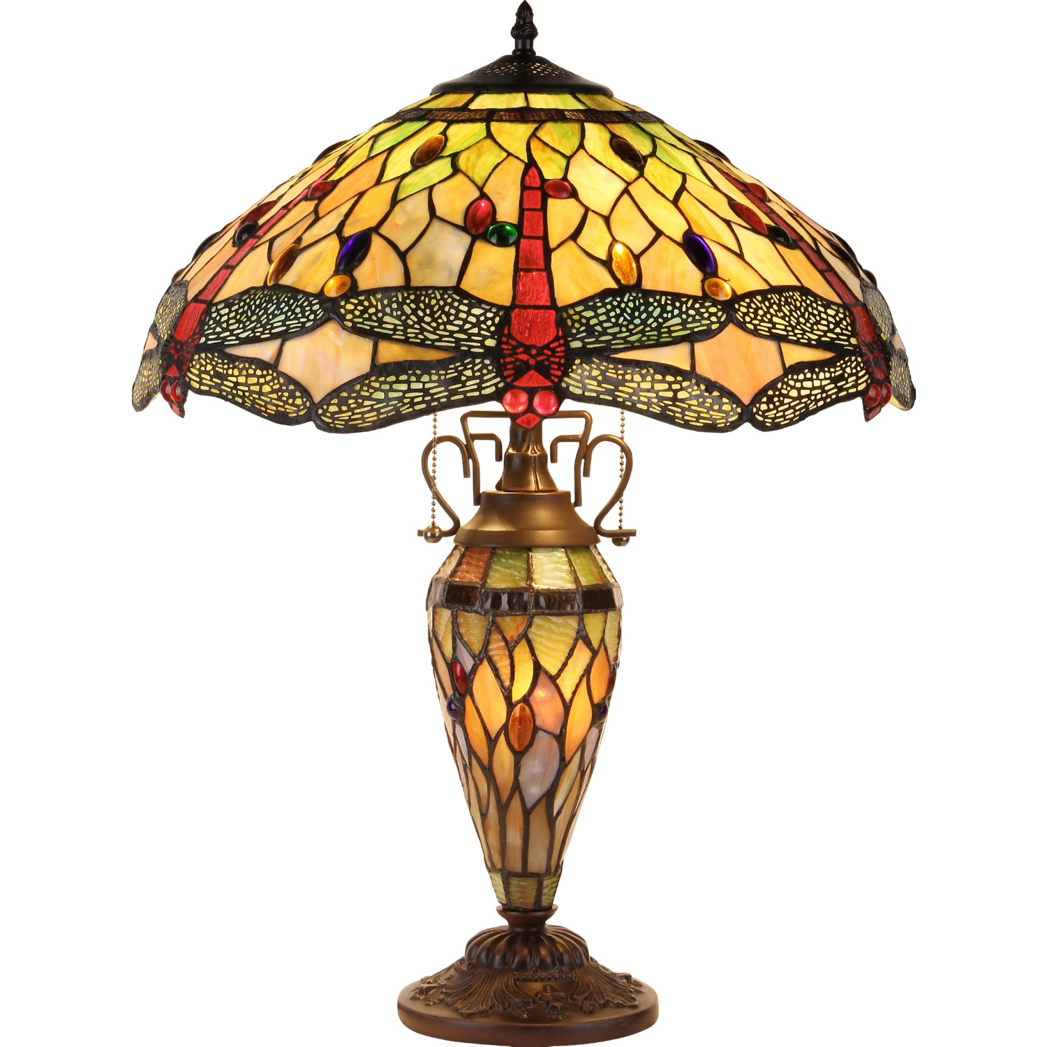 Chloe lighting ch32825db19 dt3 anisoptera purity tiffany for Home decor 32825
