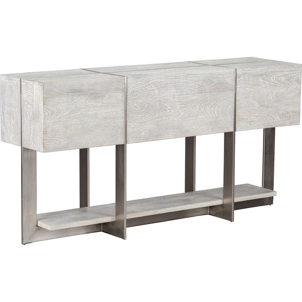 Picture of: Classic Home 51010606 Desmond 60 Console Table In Light Mango Wood Nickel
