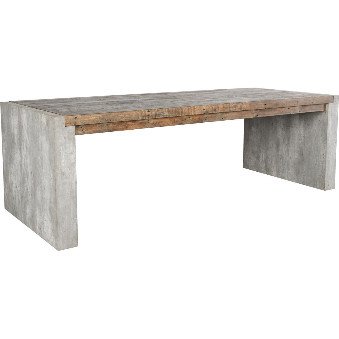 Classic Home 51030942 Charlotte 94 Dining Table In Reclaimed Wood Concrete Laminate