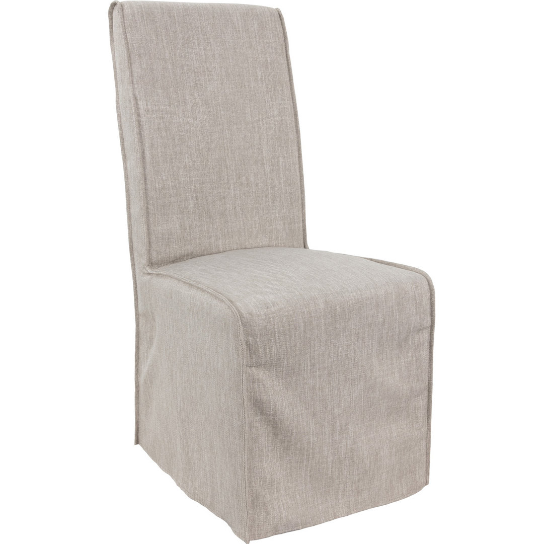 Classic Home 53051211 Jordan Dining Chair In Neutral Fabric Slipcover Set Of 2