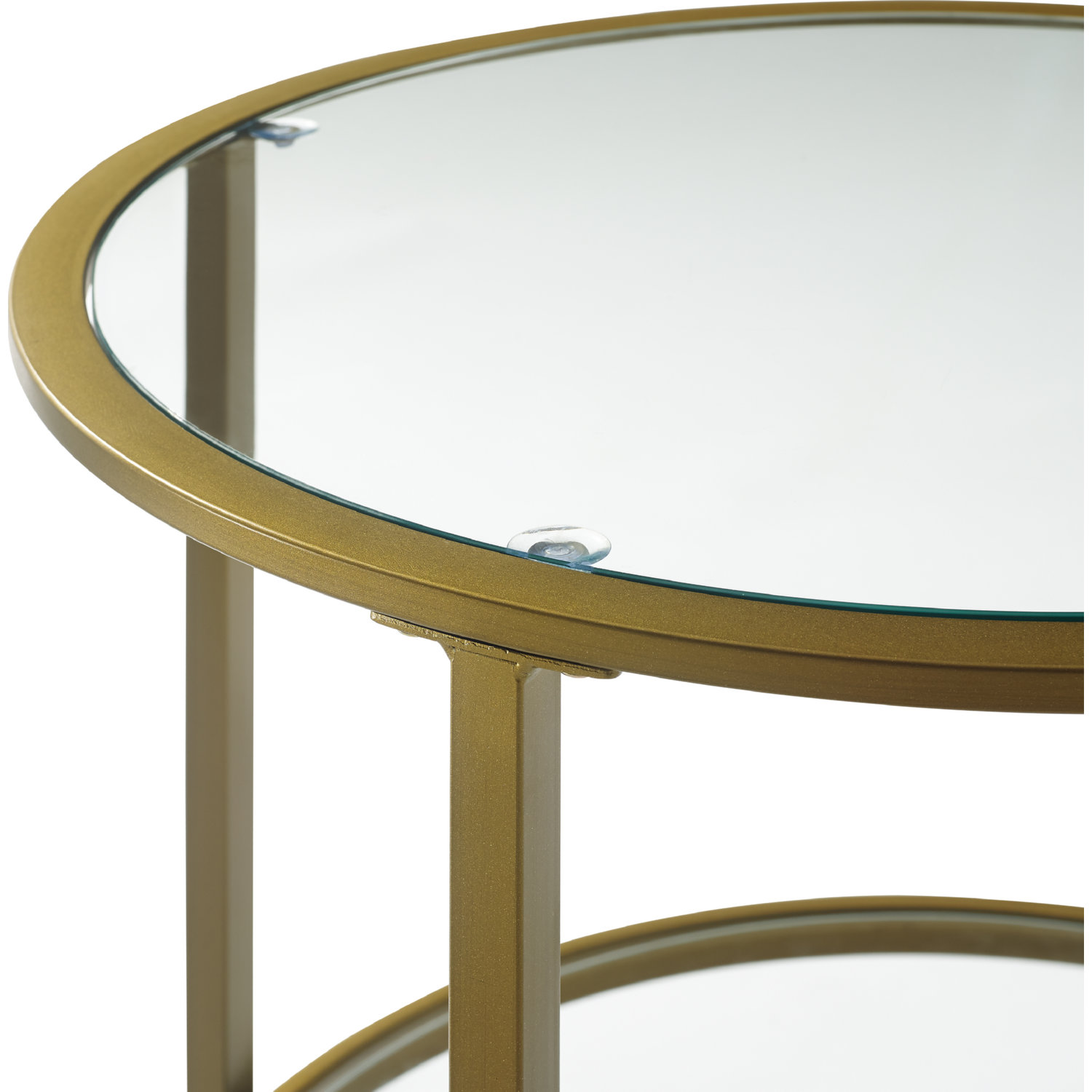 Aimee Gl Side Table In Antique Gold Tempered By Crosley