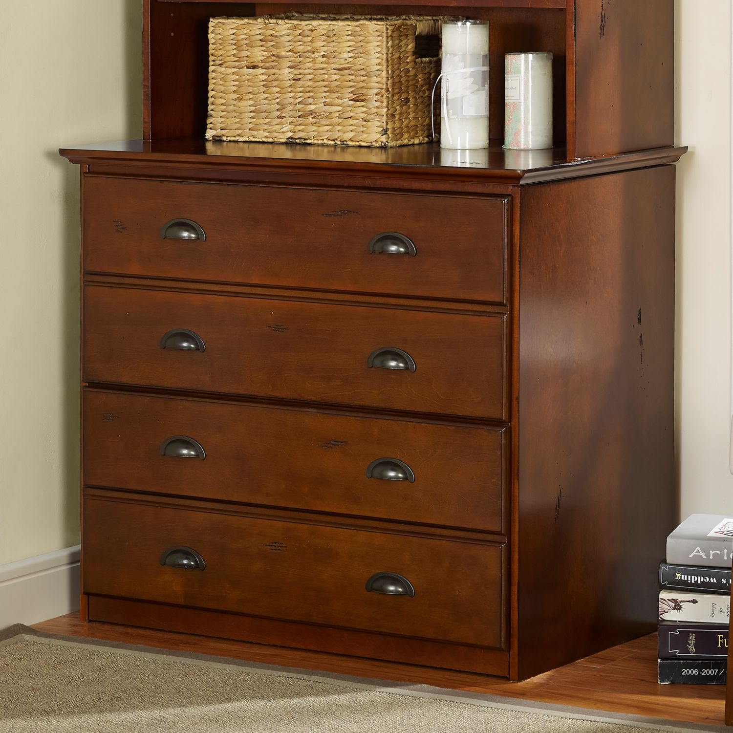 Cherry File Cabinet Crosley Cf6504 Ch Valley Forge Double File Cabinet In Vintage