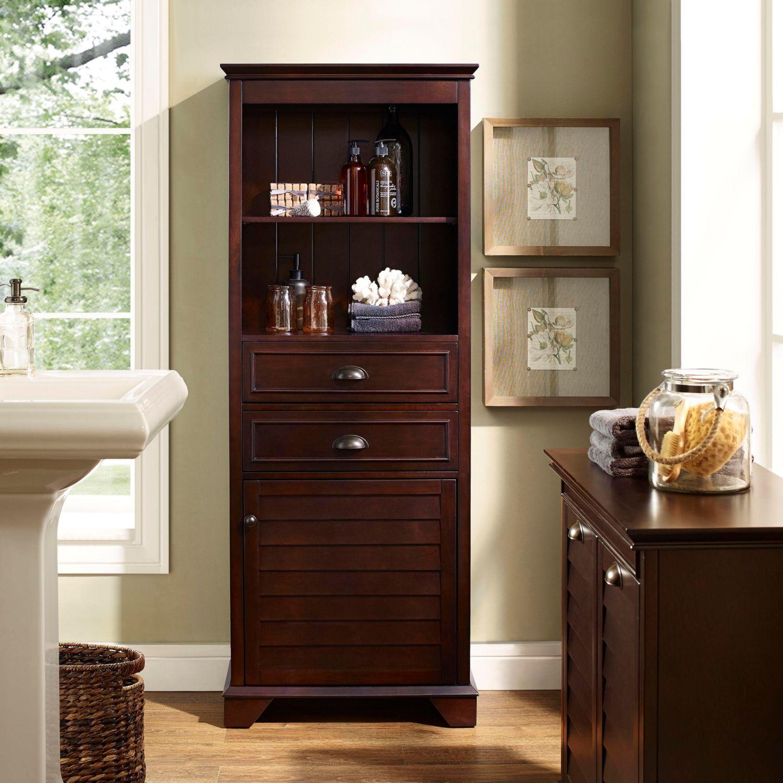 Crosley Cf7001 Es Lydia Tall Cabinet In Espresso Wood W