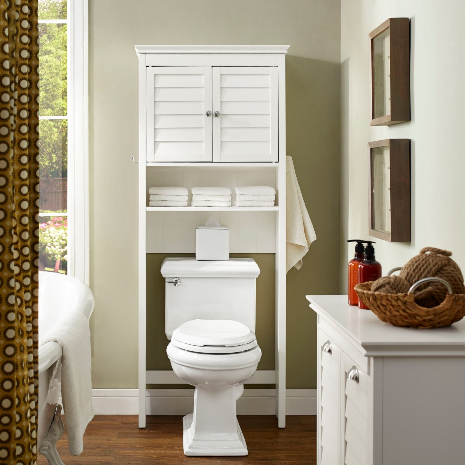 Crosley CF7002-WH Lydia Over-Toilet Space Saver Cabinet in White ...
