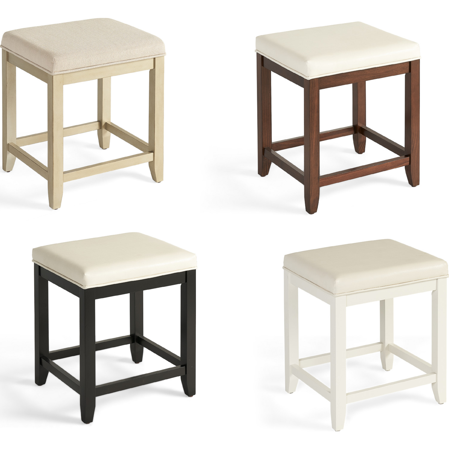 Fantastic Vista Vanity Stool In Distressed Gold W Creme Linen Seat By Crosley Alphanode Cool Chair Designs And Ideas Alphanodeonline
