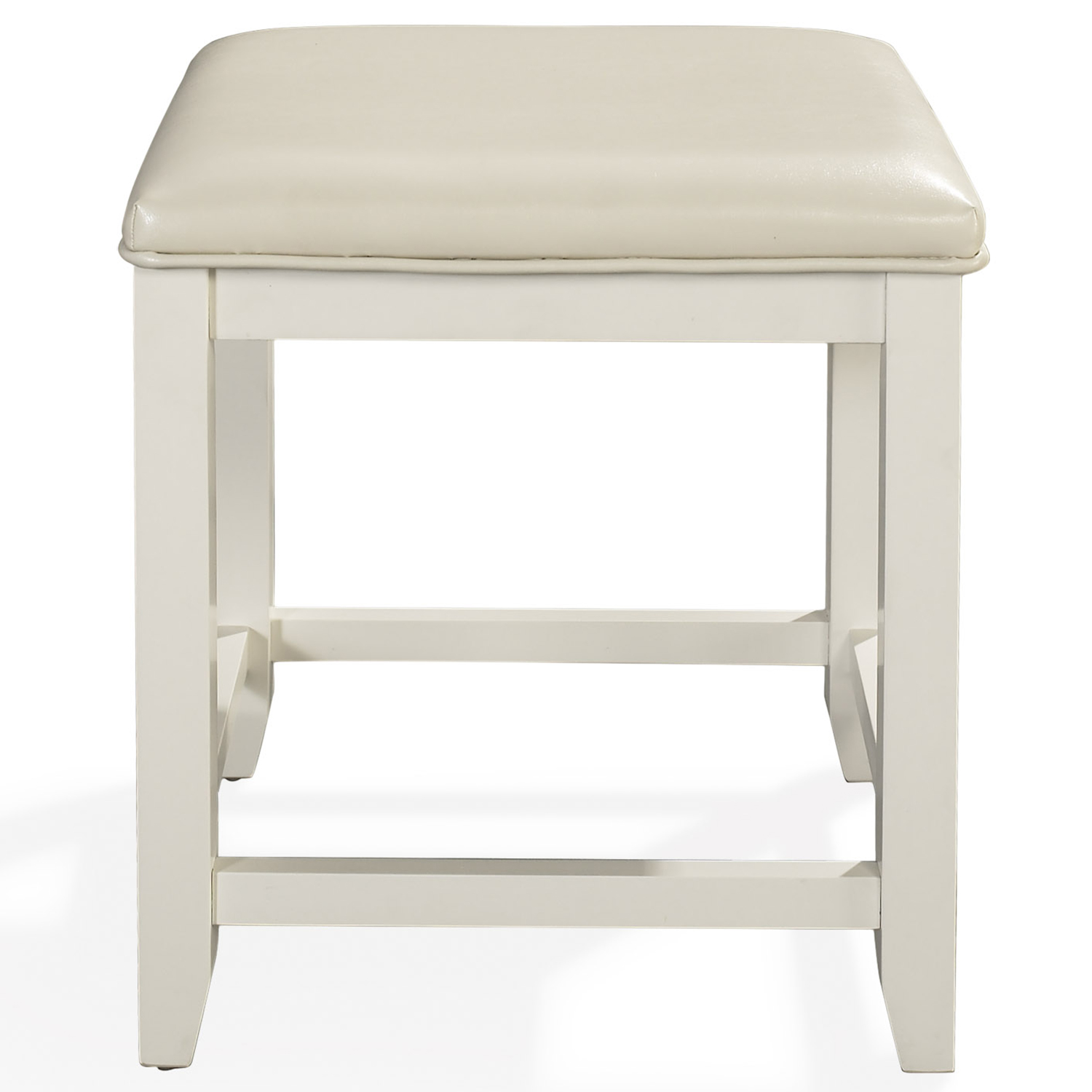 Outstanding Vista Bedroom Vanity Stool In White Finish By Crosley Andrewgaddart Wooden Chair Designs For Living Room Andrewgaddartcom
