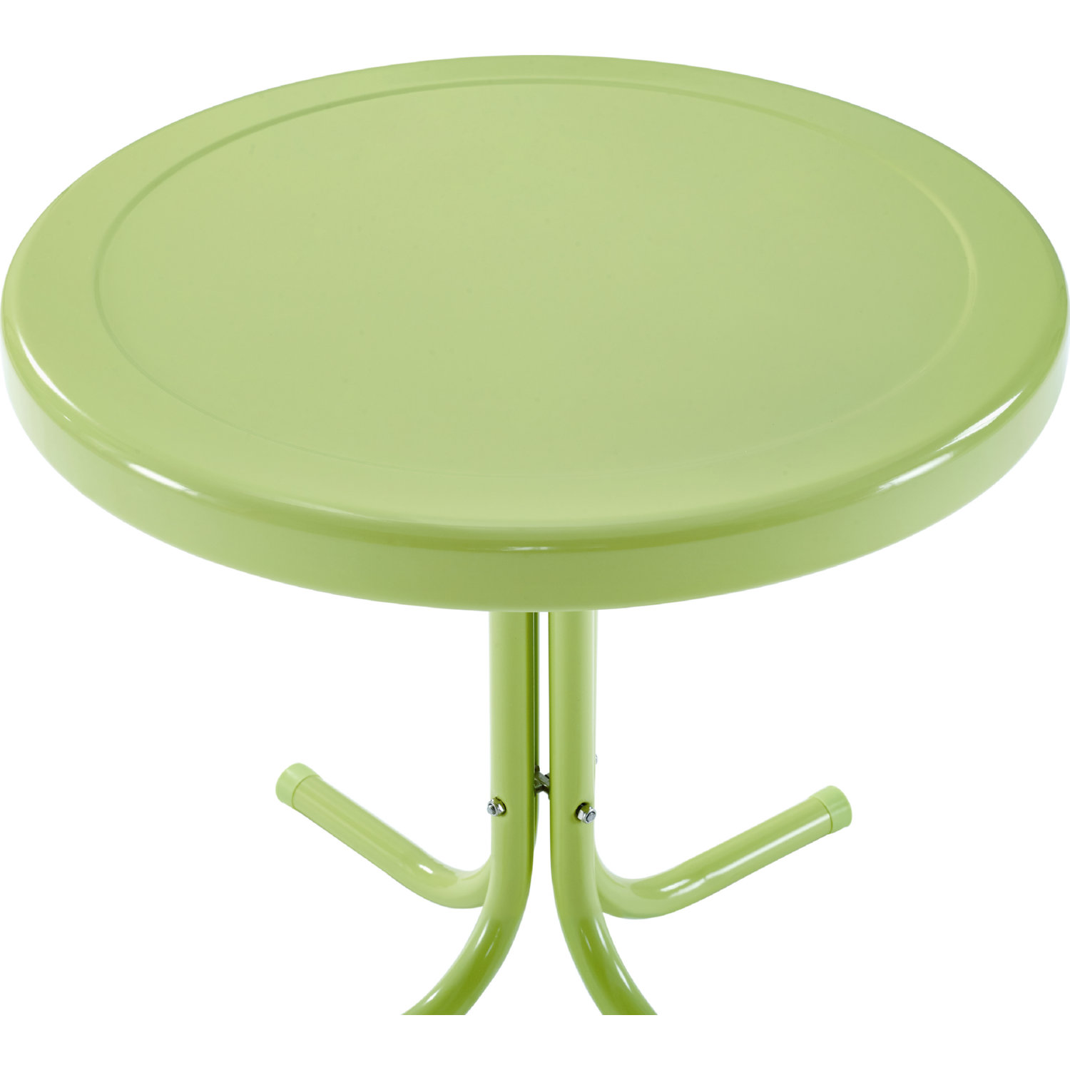 Retro Metal Side Table In Key Lime Green