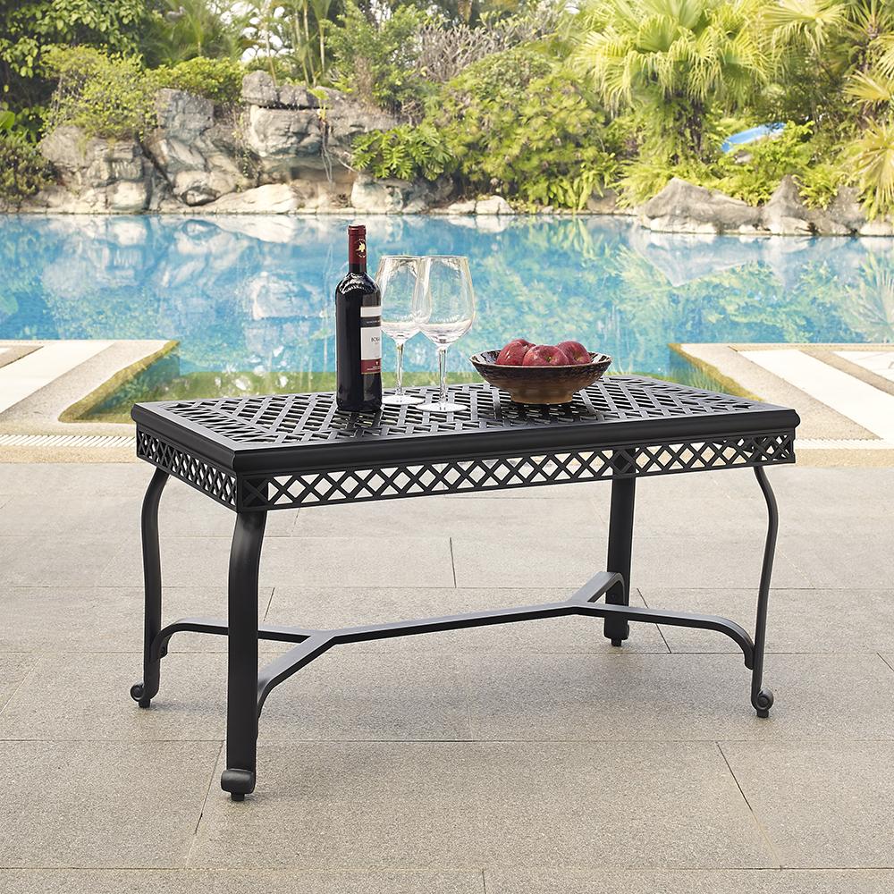 Crosley co6203 bk portofino cast aluminum coffee table in charcoal crosley co6203 bk portofino cast aluminum coffee table in charcoal black finish geotapseo Gallery