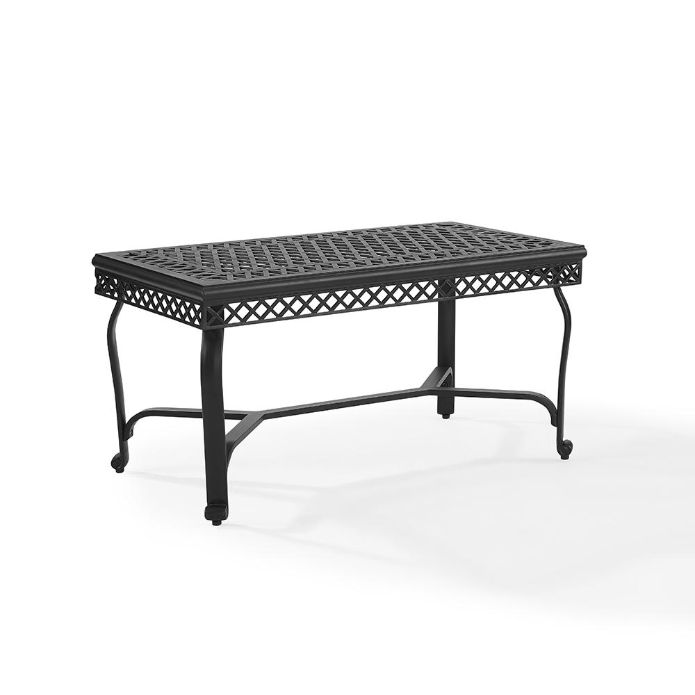 Crosley Co6203 Bk Portofino Cast Aluminum Coffee Table In Charcoal Black Finish