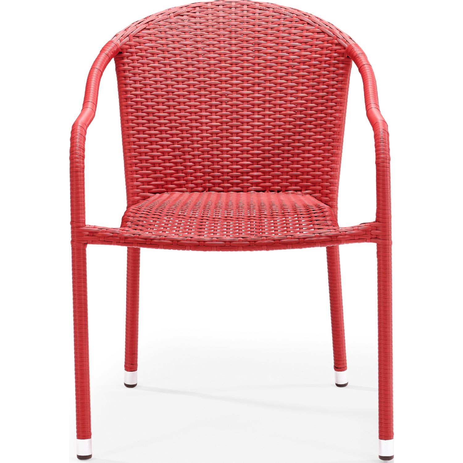 Miraculous Palm Harbor Outdoor Wicker Stackable Dining Arm Chairs In Red Set Of 4 By Crosley Creativecarmelina Interior Chair Design Creativecarmelinacom