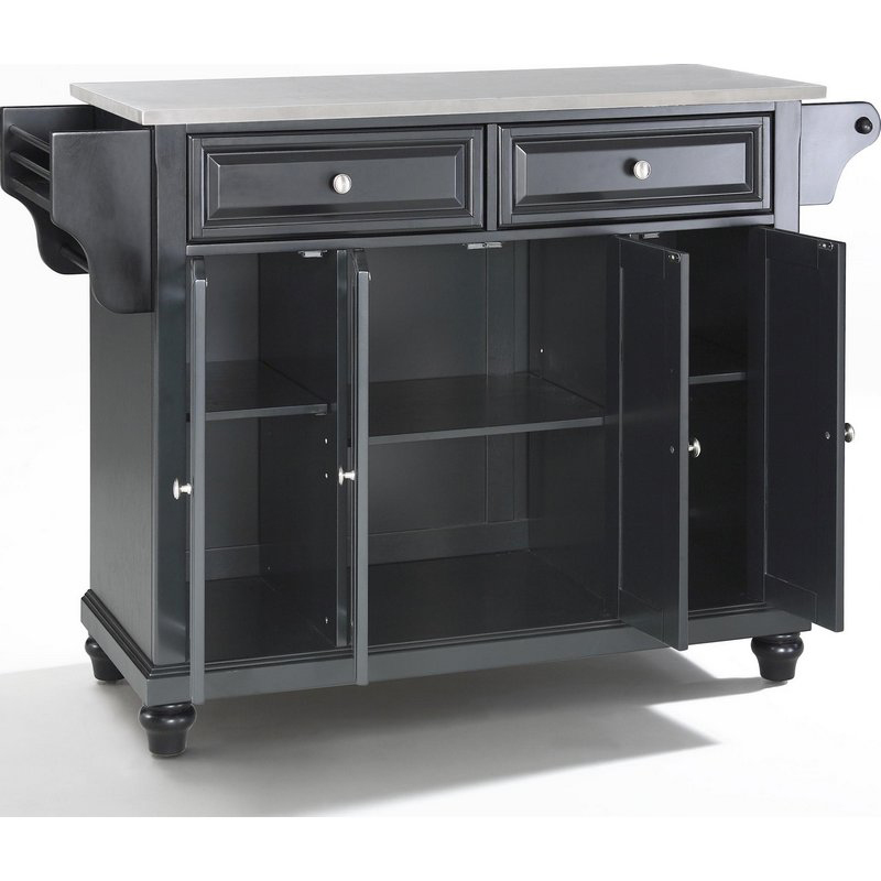 Kitchen Island With Stainless Steel Top Free Crosley Lafayette Kitchen Island With Stainless
