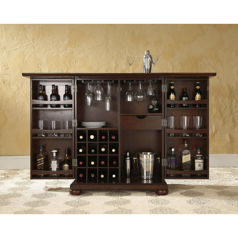 Crosley Kf40001ama Alexandria Expandable Bar Cabinet In